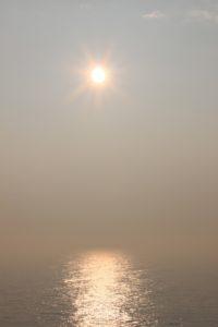 Die Sonne lässt sich nur kurz sehen...