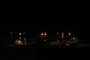Hafen von Kemi beim Einlaufen morgens um 4 Uhr