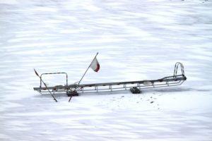 """Mit dieser """"Leiter"""" kommen die Lotsen im Eis an Bord"""