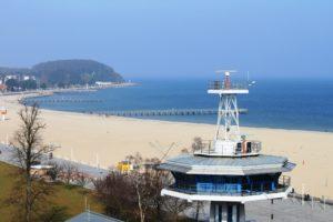 Die Revierzentrale mit Strand in Travemünde