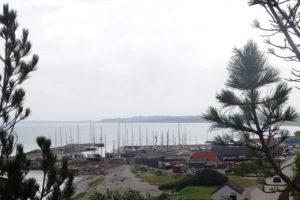 Der Hafen von der Stielküste aus