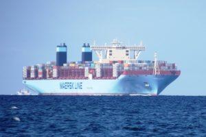 Beim Bau das größte Containerschiff der Welt, die Triple-EEE Schiffe von APMM